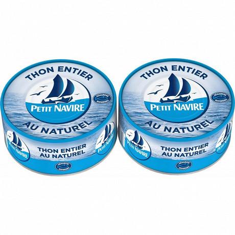 Petit Navire thon naturel démarche responsable 2x112g