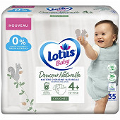 Lotus baby douce nature 35 couches T4+