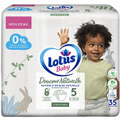 Lotus baby douce nature 35 couches T5