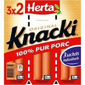 Herta knacki original porc 3 x 2 pièces 210 g