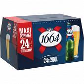 Kronenbourg bière 1664 24 x 25cl 5,5% Vol.