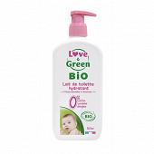 Love & green lait de toilette sans parfum et bio 500ml
