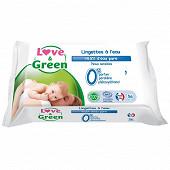 Love & Green lingettes sensitives X56