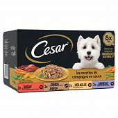 Cesar barquette mini filets en sauce 8x150g