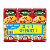 Panzani penne cuisson rapide 2x500g + 1 paquet offert