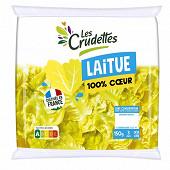 Les Crudettes salade 100% coeur de laitue sachet 150g