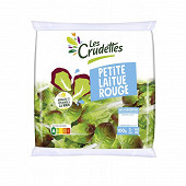 Les Crudettes salade petites laitues rouges sachet 100g