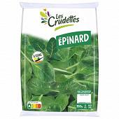 Les Crudettes salade épinard format maxi sachet 350g