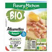 Fleury michon allumettes nature bio -25%sel 2x60g