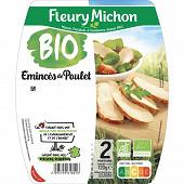 Fleury Michon émincés de poulet rôti bio -25% de sel 120g