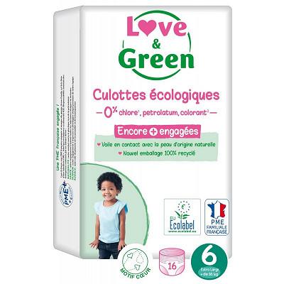 Love & Green Love & green culottes hypoallérgéniques t6 x 16