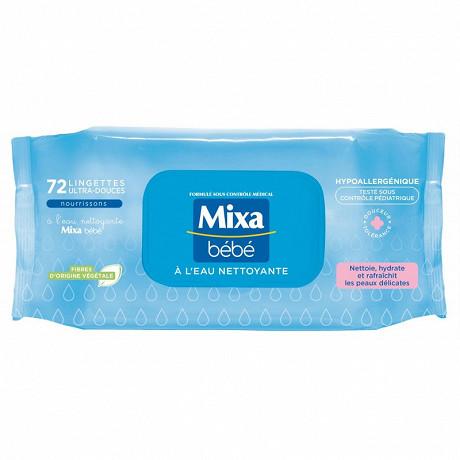 Mixa bébé lingettes à l'eau nettoyante x72