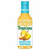 Tropicana réveil des tropiques pur jus pet 90cl