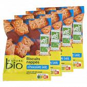 Nature bio mini oursons nappés chocolat lait 4x30g
