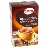 Cora cappuccino parfum chocolat 8 sachets soit 144 g