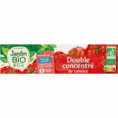 Jardin bio étic double concentré de tomate bio en tube 200g