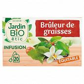 Jardin bio infusion brûleur de graisse bio 20 sachets + étui 30g