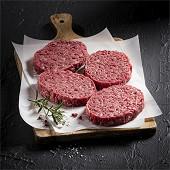 Steak haché 12% MG 4x125gr viande bovine Label Rouge race Limousine
