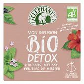 Eléphant infusion bio détox x20 34g