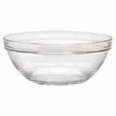 Saladier 17 cm lys empilable verre transparent