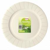 Cora assiettes carton x20 blanche diam 29cm