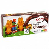 Cora lapin fourrés chocolat x5 125g