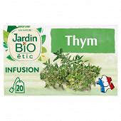 Jardin bio étic infusion thym bio 20 sachets 28g