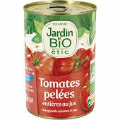 Jardin bio étic tomates entières pelées au jus bio 400g