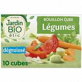 Jardin bio etic bouillon cube légumes dégraissé sans huile palme 10x9g