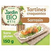 Jardin bio étic tartines au sarrasin sans gluten bio 150g