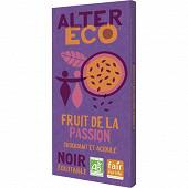 Alter Eco chocolat noir fruit de la passion 100g