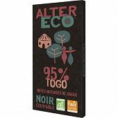 Alter Eco chocolat noir Togo 95% 100g