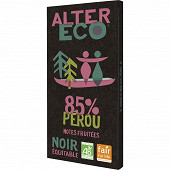 Alter Eco chocolat noir 85% bio 100g