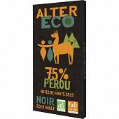Alter Eco chocolat noir 75% bio 100g