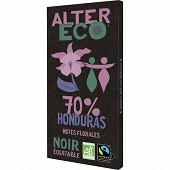 Alter Eco chocolat noir Honduras 70% 100g
