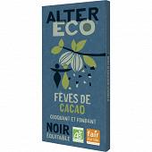 Alter Eco chocolat noir fèves de cacao bio 100g
