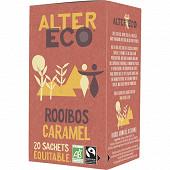 Alter Eco thé rooibos au caramel bio 40g