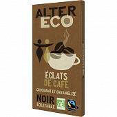 Alter éco chocolat noir éclats de café 100g