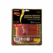 Espuna jambon serrano espagnol bodega 10 tranches fines +2 offertes 144g