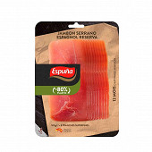 Espuna jambon serrano reserva fines tranches sans gluten 100g