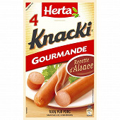 Herta knacki gourmande 4 pieces soit 280g