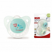 2 sucettes bouton silicone taille 3 +18 mois day night Nuk