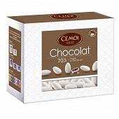 Cémoi dragées blanc chocolat noir 375g