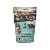 Charles Vignon muesli bio pépites et flocons chocolat noix de coco  375g