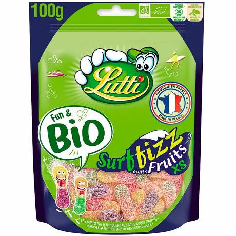 Lutti surfizz fruits xs bio sachet 100g