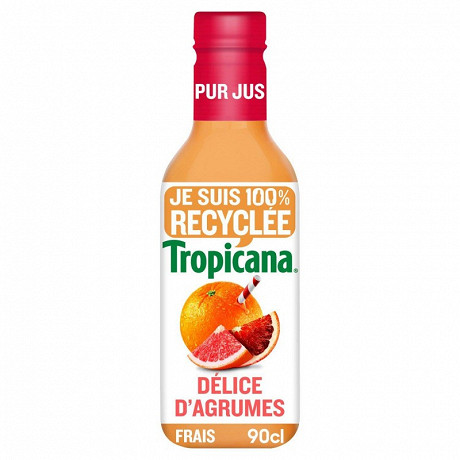 Tropicana orange pamplemousse orange sanguine pur jus pet 90cl