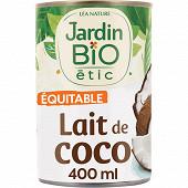 Jardin bio etic lait de coco bio 40cl