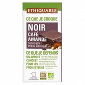 Ethiquable chocolat noir café amande bio 100g