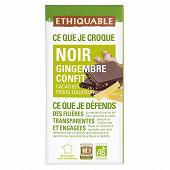 Ethiquable chocolat noir gingembre bio 100g