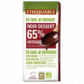 Ethiquable chocolat noir dessert bio 200g